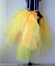Burlesque Bustle Belt Tutu Skirt  S M L Sexy Mardi Gras Halloween Yellow Gold