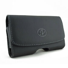 New Over Size Cover Fit Black Belt Clip Leather Holster Pouch Case for Phones