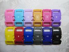 3/8'' (10mm) Contoured Cat Collar Safety Buckles.-Qty & Color pick