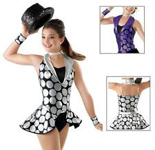 NEW Stompin at the Savory Purple Black Tap Jazz Dance Competition Costume + Hat