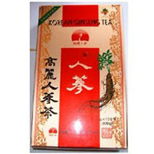 100 bags 6year Korean red Ginseng gold tea ,Matcha Green seed diet Organic drink