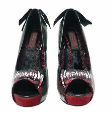 IRON FIST LADIES WOLF BEATER PEEP TOE PLATFORM SHOES (E8A)