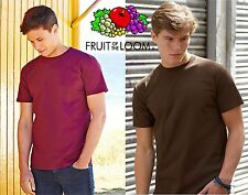 T-Shirt Cotone SUPER PREMIUM Maglietta Maniche Corte FRUIT OF THE LOOM 18 colori