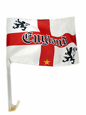 CLIP ON ENGLAND FOOTBALL WORLD CUP 2014 ST GEORGES CAR FLAG FLAGS KIT NEW
