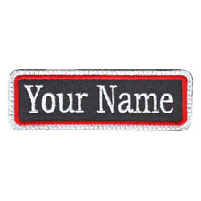 RECTANGULAR 1 LINE CUSTOM EMBROIDERED NAME TAG  (C)