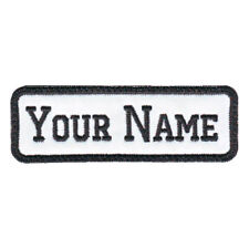 RECTANGULAR 1 LINE CUSTOM EMBROIDERED NAME TAG  (E)