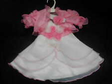 Pink Christening Flower Girl Wedding Bridesmaid Easter Xmas Party Dress 0-24m