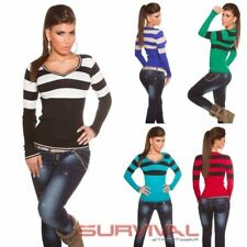 WOMENS NEW DESIGNER JUMPER SWEATER V-NECK TOP SEXY SZ 6-8-10  CLUB PARTY CASUAL