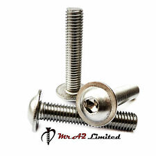 A2 STAINLESS FLANGED SOCKET BUTTON HEAD ALLEN KEY SCREW BOLTS ISO7380