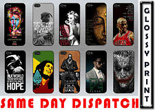 FAMOUS QUIRKY WORDINGS LEGEND QUOTES VINTAGE BLACK IPHONE 4/4S HARD CASE COVER