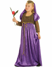 Child Maid of Honour Medieval Kids Girls Fancy Dress Book Week Costume
