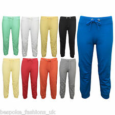 New Ladies Girls 3/4 Length Women's Jogging Pants Bottoms Gym Sport Trouser