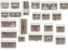 Brushed Steel Polished Chrome & Black Nickel Sockets and Switches cheap prices!!