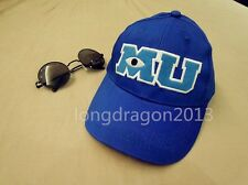 Pixar Movie Monsters University Sulley Mike MU Letters Baseball Blue Hat