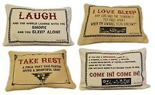 38x25cm Cushion Covers with Literary Quotes  - Jute or Cotton Canvas