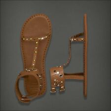 NWT NEW Abercrombie & Fitch by Hollister Leather Flip Flop Sandals XS S M L