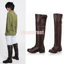 Anime Attack on Titan Shingeki no Kyojin Eren Jaeger Cosplay Shoes Boots Unisex