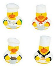 Set of 4 Culinary Chef Rubber Ducks DUCKYS Duckies or Sticker #161101 Cooking