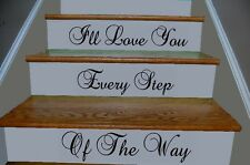 I'll Love You Every Step Of The Way Vinyl Stairsteps Wall Quote Decor 99093BS