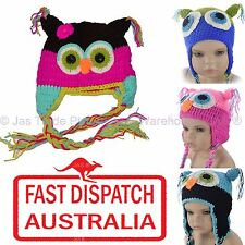 Kids Toddler Baby Crochet Knit  Animal Bird Costume Party Trooper Hat Beanie OWL