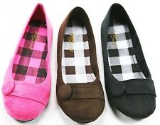 Women's Ballet Flats Ballerina Slippers Casual Slip On Shoes Ladies Suede chess