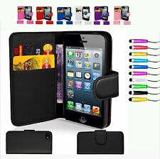 Wallet Flip leather Mobile Phone Case Cover for Iphone 4 4s 5 5s 5c 6/6S 6 Plus