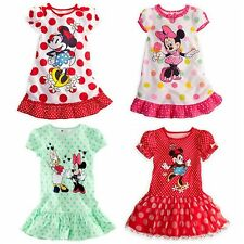 Baby Toddler Kid Girl Minnie Mouse Dress Girls Disney Summer Top Costume Clothes