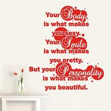 Your body is what makes you sexy - Traditional Wall Sticker Quote Decal