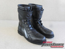 MOTOPHORIA MENS BACKLASH MOTORCYCLE RIDING BOOTS BLACK LEATHER BOOTS 42146