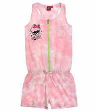 Monster High Overall Playsuit for Girls 7 to 14 Years | Pink