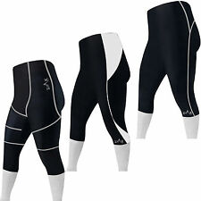 Cycling 3/4 Length Tights /Shorts Padded Cycle Trousers Leggings Shorts S to XXL