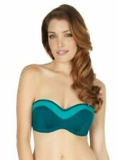 New Panache Isobel SW0763 Emerald Bandeau Bikini Top VARIOUS SIZES