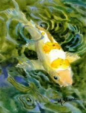KOI FISH FLAG/AVAIL GARDEN SIZE OR CANVAS HOUSE SIZE
