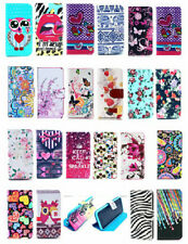 Luxury Designer Flower Leather Flip Wallet Case for iPhone 5c + Free Extra Gifts