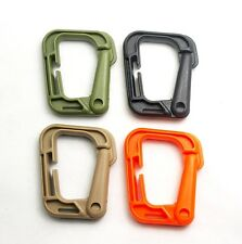 4pcs 4 color Tactical SWAT Fastex Grimloc D-Ring Molle Carabiner Loop Lock