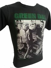 Retro green day T-shirt Rock Music Size M/L stones washed black color New R-007