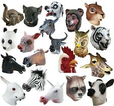 Latex Fancy Animals Pig Goat Rat Dalmatian Farmyard Party Masks
