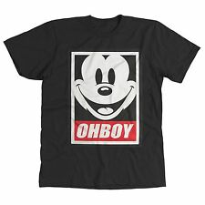 OHBOY MICKEY MOUSE FUNNY OBEY PARODY COOL DOPE MENS T-SHIRT *S, M, L, XL