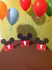 Mickey Mouse Party Balloon Center Piece with age.