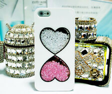 Colorful Bling Crystal Diamonds Love Heart Covers Cases For iPhone5 5S 4 4S SX45