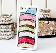 New Bling Crystal Diamonds Colorful Rainbow Hard Cases Covers For iPhone5C 5CSC