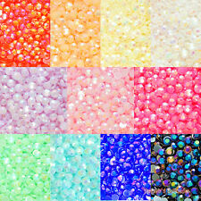1000pcs Jelly AB Colors 2-12mm Acrylic Flatback Rhinestone Scrapbook Nail Craft