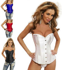 Sxey Lady Basques Corsets Lace Up Overbust Bustiers Body Shaper Lingerie Top