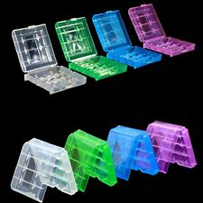 5pcs Clear Hard Plastic Case Holder Storage Box for AA AAA Battery New