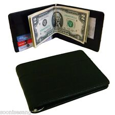 Genuine Eel Skin Leather Men's Money Clip Wallet Bifold Wallet Purse
