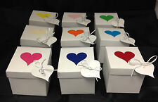 A pack of 10 self locking lid and base cupcake box with Heart design 7cm