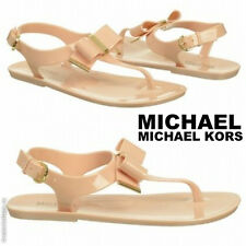 NWB MICHAEL MICHAEL KORS Women's Kayden Jelly Sandals Fashion Flat Thong Shoes