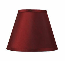 "Urbanest Coolie Hardback Lamp Shade,5""x9""x7"",Faux Silk, Spider Fitter, 6 Colors"