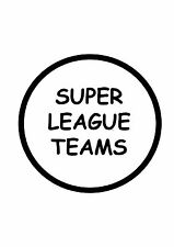 "EDIBLE 7.5"" RICE PAPER CAKE TOPPER SUPER LEAGUE TEAMS!"