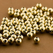 Gold Filled Seamless Round Beads. All Sizes. Plain. 14/20 GoldFilled. Gold Space